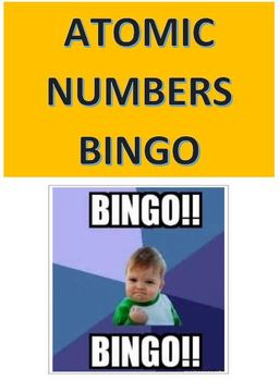 Atomic Numbers Bingo