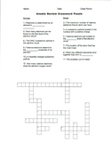 Atomic Review Crossword Puzzle