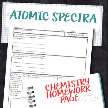 Atomic Spectra Chemistry Homework Worksheet