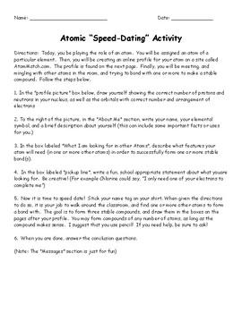 Atomic Speed Dating