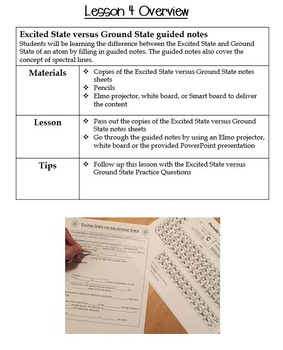Atomic Structure-Excited State Guided Notes