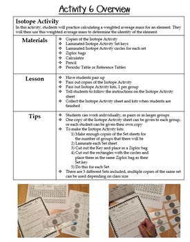Atomic Structure-Isotopes Warm Up Activity