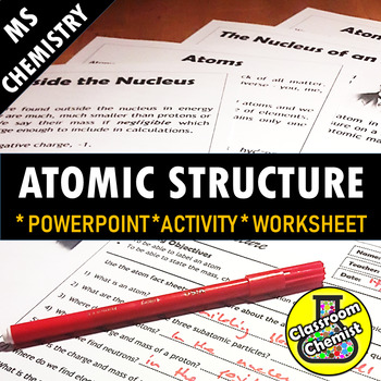 Atomic structure activity teaching resources teachers pay teachers atomic structure activity hs ps1 1 urtaz Images