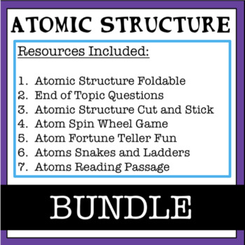 Atomic Structure: Activities Bundle