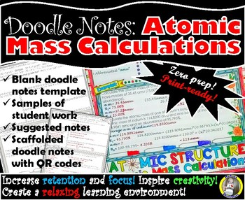 Atomic Structure - Atomic Mass- Chemistry Doodle Notes