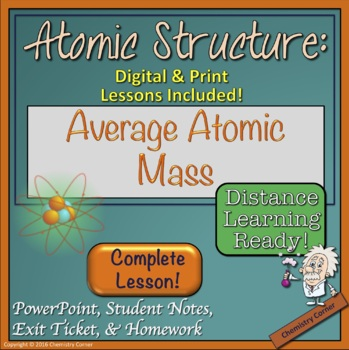Atomic Structure: Average Atomic Mass