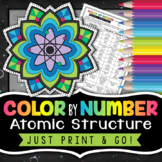 Atoms Color by Number | Atomic Structure Science Color By Number