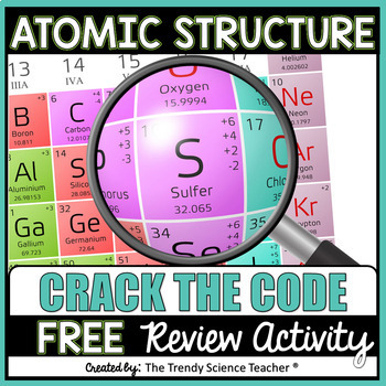 Atomic Structure Crack the Code Activity (FREE)