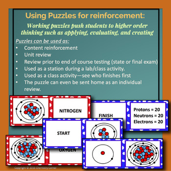 Atomic structure domino puzzle by chemistry corner tpt atomic structure domino puzzle urtaz Images
