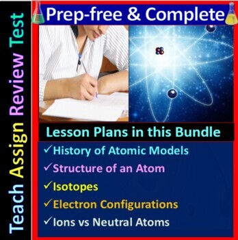 Atomic Structure - Engaging & Easy-to-learn Guided Study notes for HS Chemistry