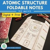 Atomic Structure Foldable Notes and PowerPoint with Digita