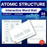 Science - Atomic Structure - Interactive Word Wall Activit