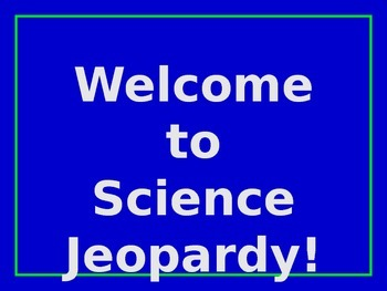 Atomic Structure & Periodic Table Jeopardy Game