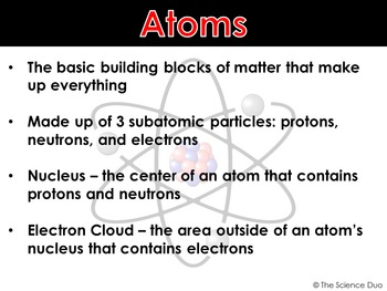 Atomic Structure - PowerPoint and Notes