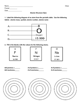 Science 10 worksheet on atoms and ions answer key