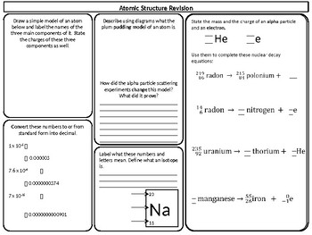 Atomic structure revision worksheet by perigee science resources atomic structure revision worksheet ibookread Read Online