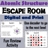 Atomic Structure Activity: Atoms Escape Room (Science Breakout Game)