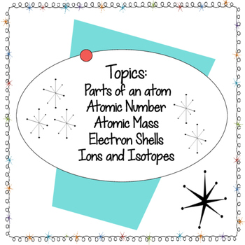 Atomic Structure Task Cards