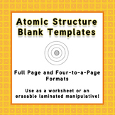Atomic Structure Templates for Laminated Manipulatives or Worksheets