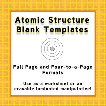 Atomic Structure Templates for Laminated Manipulatives or