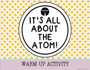 Atomic Structure-Warm Up Activity