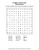 Atomic Structure - Word Search, Word Scramble,  Secret Code,  Crack the Code