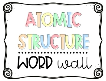 Atomic Structure Word Wall