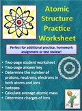 Atoms and Atomic Structure Worksheet