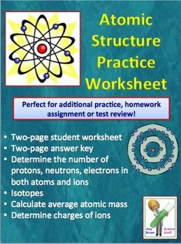 Atomic Structure Activity Teaching Resources Teachers Pay Teachers