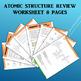 Atoms / Atomic Structure Worksheet