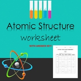 Atomic Structure Worksheet with Answer Key