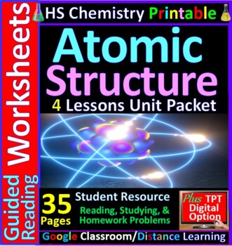 Atomic Structure: a quick study guide /review for quizzes, midterm & final exams