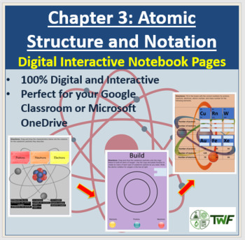 Atomic Structure and Notation - Digital Interactive Notebook Pages