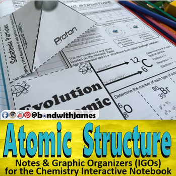 Atomic Structure for Chemistry Interactive Notebooks and Lapbooks
