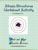 Atomic Structures Worksheet Activity - Orbital Models with