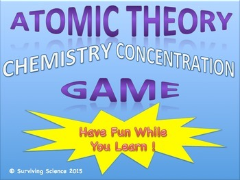 Atomic Theory Chemistry Concentration Game Review