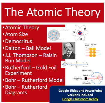Atomic Theory and Model Lesson - History of the Atom PowerPoint Lesson Package