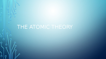 Atomic Theory PowerPoint