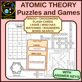 Atomic Theory Puzzle and Game Sheets