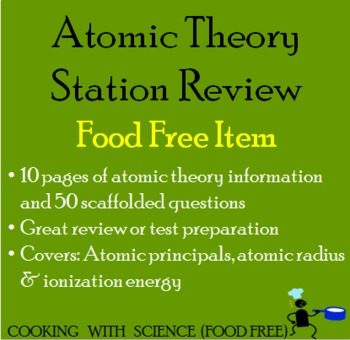 Atomic Theory Stations Review Activity