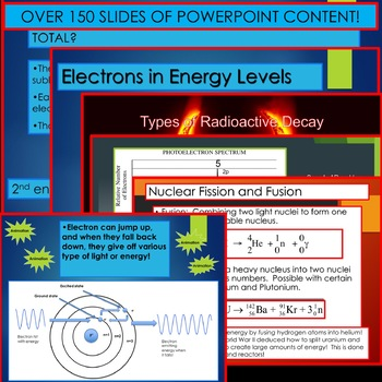 Chemistry Unit Bundle - Atomic Theory and Light for College Prep Chemistry!