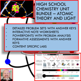 Chemistry Unit Bundle - Atomic Theory and Light for High S