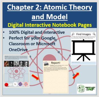 Atomic Theory and Model - Digital Interactive Notebook Pages
