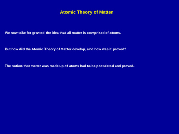 Atomic Theory of Matter Explained - Chemistry Review (Hand