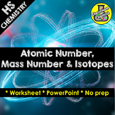Atomic number, Atomic Mass, isotopes and relative atomic mass PPT and worksheet