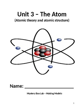 Atomic theory and structure of the atom COMPLETE UNIT!!