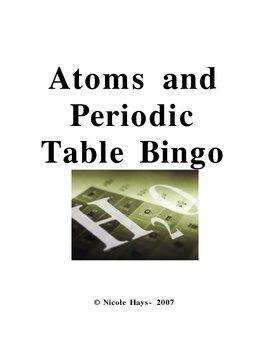 Atoms and Periodic Table Bingo