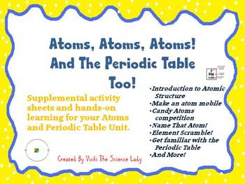 Atoms atoms atoms and the periodic table too activities tpt and the periodic table too activities urtaz Images