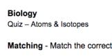 Atoms & Bonding Quiz
