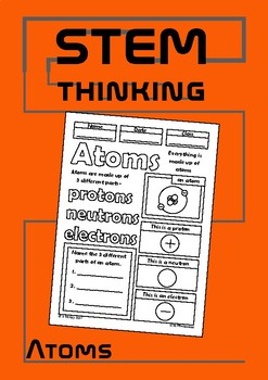 Atoms Color and Learn Elementary Science Doodle Notes